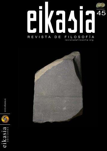 Descargar número completo ( 6,48 MB) - Eikasia. Revista de Filosofía