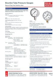 Data sheet 1211 Bourdon Tube Pressure Gauge Nominal Case Size ...