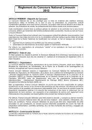 ARTICLE PREMIER - Objectifs du Concours - Limousine.org