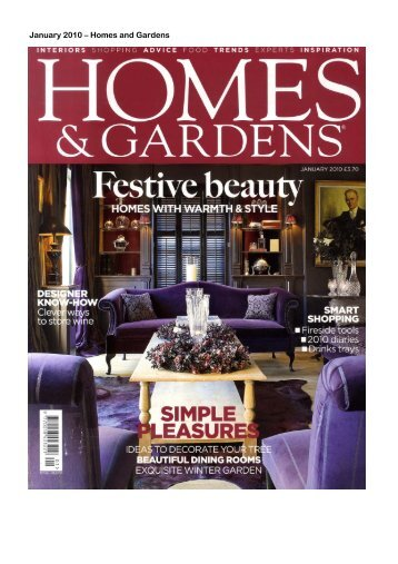 January 2010 – Homes and Gardens - Spiral Cellars