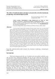 The effect of medicinal plants and plant extracted oils ... - Rombio.eu