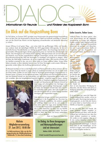"""Dialog"" - Ausgabe 7 - Hospizverein Bonn"