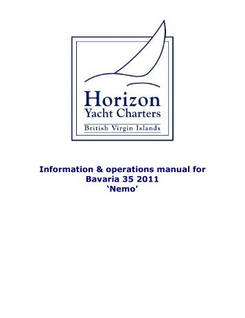 bavaria 39 operations manual horizon yacht charters rh yumpu com bavaria 37 owner's manual bavaria 49 owner's manual