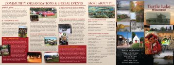 to Download the Village Brochure in PDF - Turtle Lake WI