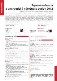 Tepelná ochrana a energetická náročnost budov 2012 - ATREA sro