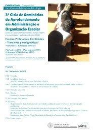 3º Ciclo de Seminários de Aprofundamento em Administração e ...