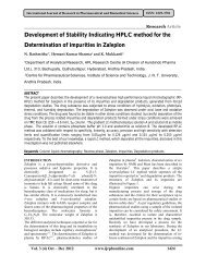 Development of Stability Indicating HPLC method for the ...