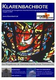 KLARENBACHBOTE - Evangelische Klarenbach-Kirchengemeinde