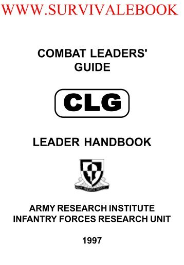 1997 US Army Combat Leaders Guide Leader ... - Survival Books