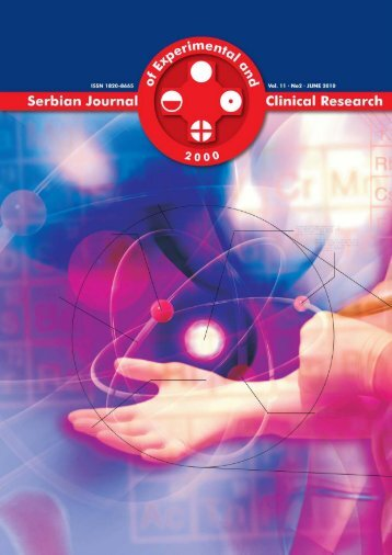 Serbian Journal of Experimental and Clinical Research Vol11 No2