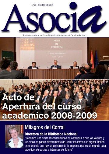 Acto de Apertura del curso academico 2008-2009 Acto de Apertura ...