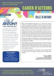 CAHIER D'ACTEURS - Ville d'Antony