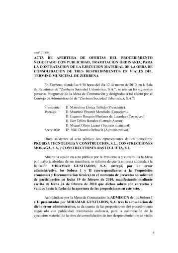 4 ACTA DE APERTURA DE OFERTAS DEL ... - Zierbena