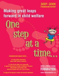 2007 - 2008 Foundation Report - Family and Children's Services of ...