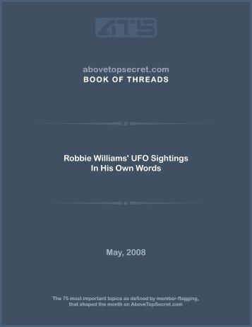 Robbie Williams' UFO Sightings In His Own ... - Above Top Secret