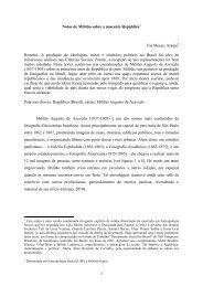 Notas de Militão sobre a nascente República - Íris Morais ... - UFRB