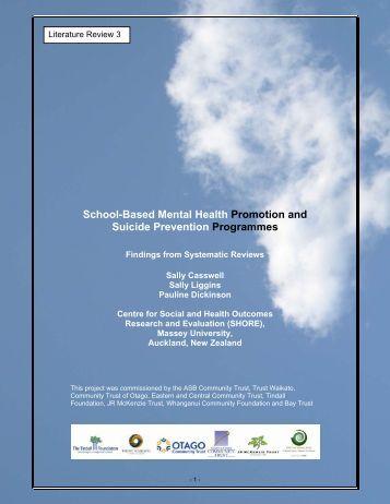 a literature review of health promotion 55 effective mental health promotion: a literature review ray hodgson, tina  abbasi, johanna clarkson ray j hodgson, consultant clinical psychologist,  tina.
