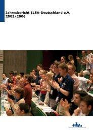 Jahresbericht ELSA-Deutschland e.V. 2005/2006 - ELSA Germany