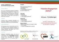 Flyer zur Inhouse Fortbildung - Zusammenhalt durch Teilhabe