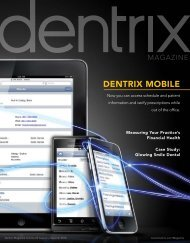 Dentrix Magazine Volume 22 Issue 2 — Summer 2010