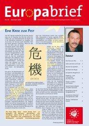 Europabrief Dezember 2008 - Glante, Norbert
