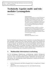 Technische Aspekte multi- und tele-medialer Lernangebote