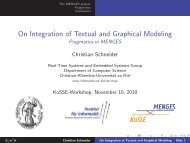 On Integration of Textual and Graphical Modeling Pragmatics in ...