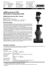 JUMO ecoLine Lf-PVC Electrolytic Conductivity Cells