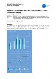 Indikator B4 Z2 Papierverbrauch senken - Nachhaltigkeit - Stadt ...