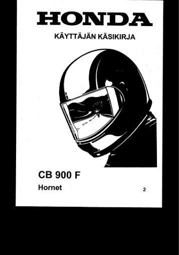 CB900F 2002-2003 käsikirja (.pdf, 2.22 MB) - Honda