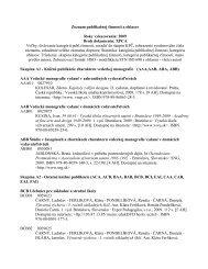 Prehľad publikačnej činnosti za rok 2009 – celkom - Vysoká škola ...
