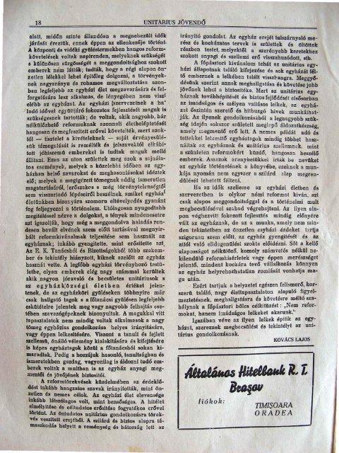 Nem reformok, hanem imádságos lelkek kellenek. - Magyarországi ...