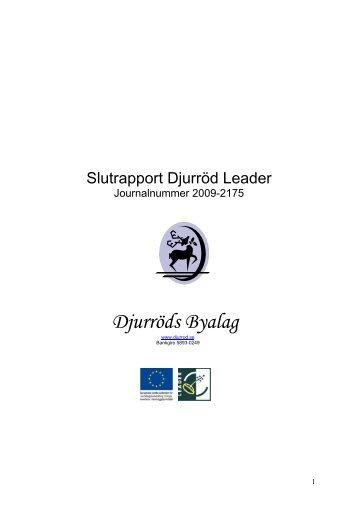 Slutrapport - Leader i Skåne