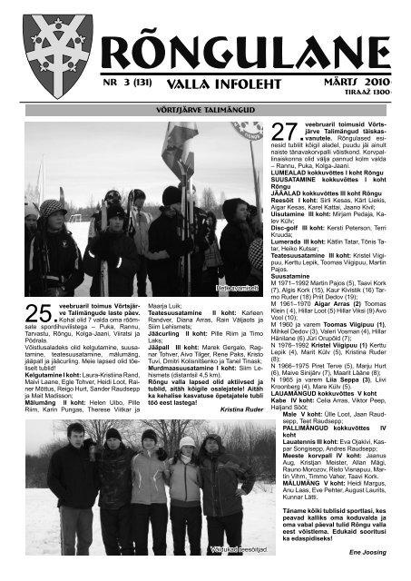 Märts 2010 - Rõngu Vald