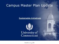 Campus Master Plan Update - Master Plan - University of Connecticut