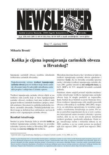 Kolika je cijena ispunjavanja carinskih obveza u Hrvatskoj? Kolika ...