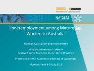 underemployment - NATSEM - University of Canberra