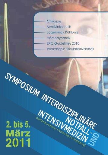 SymposiumInterdisziplinäre Notfall- Intensivmedizin und 2. bis 5.