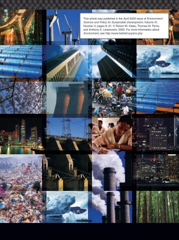 What is Sustainable Development - Yale School of Forestry ...