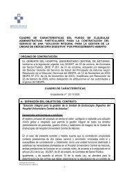 Pliego de Clausulas Administrativas Particulares. - Hospital ...