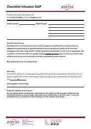 Checklist Inhuizen GAP