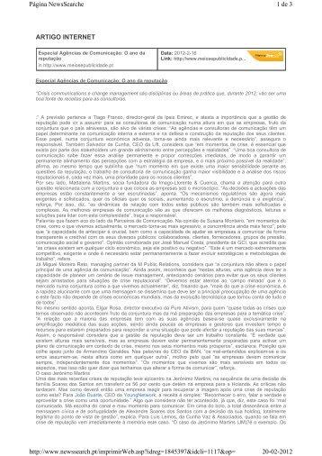 ARTIGO INTERNET 1 de 3 Página NewsSearche 20-02-2012 http ...