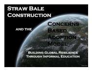 David's Presentation - 2012 International Straw Builder's Conference