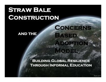 David's Presentation - 2012 International Straw Builder's Conference