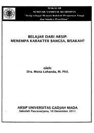 belajar dari arsip - Universitas Gadjah Mada