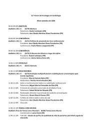 08 de setembro de 2008 - 66 Congresso Brasileiro de Cardiologia