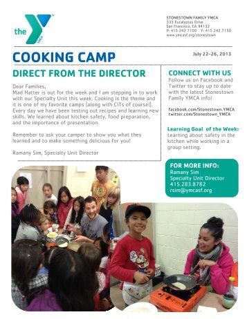 Cooking Camp - YMCA of San Francisco