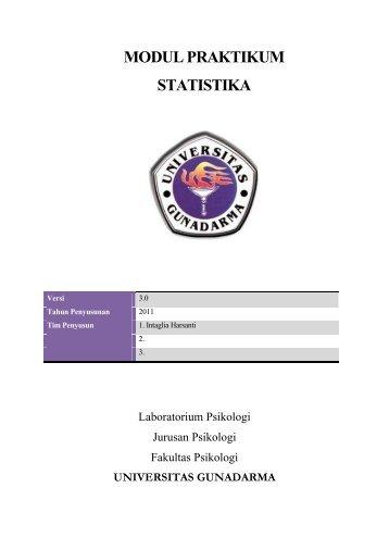 MODUL PRAKTIKUM STATISTIKA - iLab - Universitas Gunadarma
