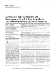 Outbreak of Type A Botulism and Development of a ... - Library