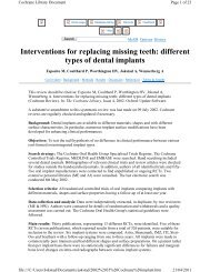 Interventions for replacing missing teeth: different types of dental ...